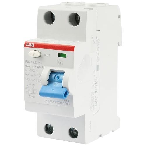УЗО ABB F202 40A 30mA (0,03A, тип AC) однофазное