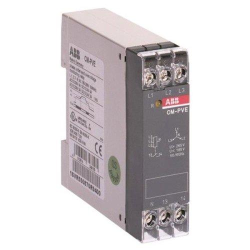 Реле контроля напряжения CM-PVE (контроль 3 фаз) (контроль Umin/max L1- L2-L3 320-460В AC) 1НО контакт, 1SVR550870R9400, ABB, Реле времени, реле контроля напряжения, таймеры суточные и недельные, реле промежуточные