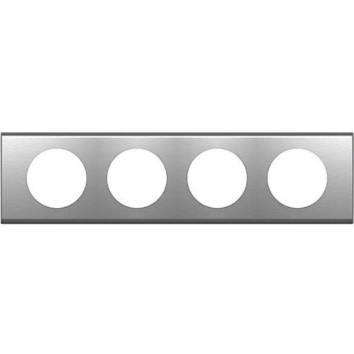 Legrand Celiane Рамка 4п Фактурная сталь