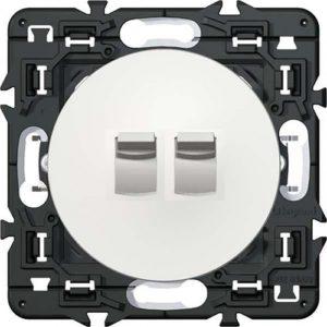 Legrand Celiane выключатель (переключатель) двухклавишный (рычажок) (белый)
