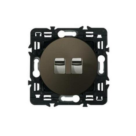 Legrand Celiane выключатель-переключатель двухклавишный (графит)