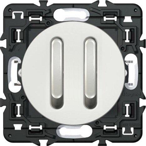 Legrand Celiane выключатель (переключатель) двухклавишный бесшумный (белый)