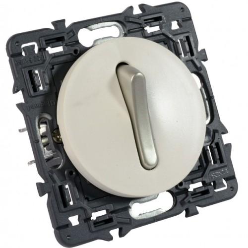 Legrand Celiane выключатель (переключатель) одноклавишный бесшумный (белый)