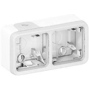 Legrand Plexo Двухместная монтажная коробка Белый 2 поста — горизонтальная установка