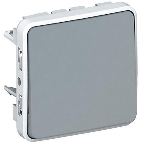 Legrand Plexo Кнопочный выключатель с нормально-открытым контактом Серый 10А