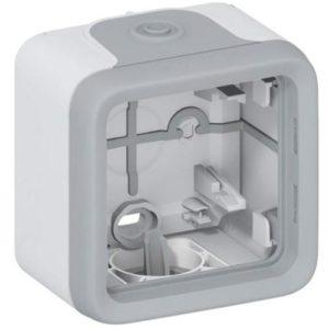 Legrand Plexo Коробка для накладного монтажа с мембранными сальниками Серый 1 пост
