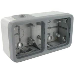 Legrand Plexo Двухместная монтажная коробка Серый 2 поста - горизонтальная установка