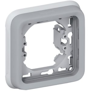 Legrand Plexo Суппорт с рамкой для встроенного монтажа Серый 1 пост