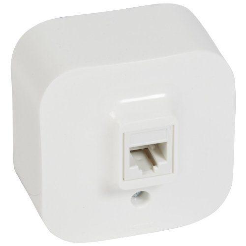 Legrand Quteo Розетка телефонная RJ11 цвет Белый