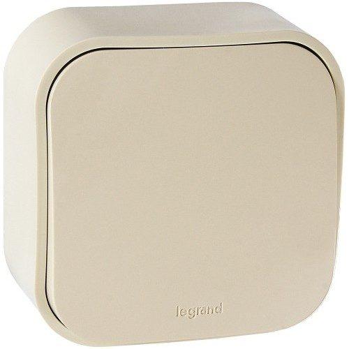 Legrand Quteo Выключатель без фиксации (кнопка) 1-клавишный 6А цвет Слоновая кость