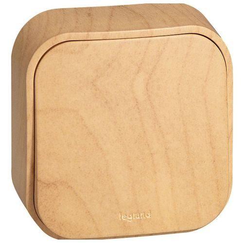 Legrand Quteo Выключатель 1-клавишный 10А цвет Дерево