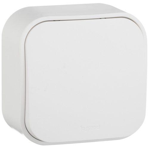 Legrand Quteo Выключатель без фиксации (кнопка) 1-клавишный 6А цвет Белый