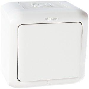 Legrand Quteo Выключатель 1-клавишный IP44 10А цвет Белый