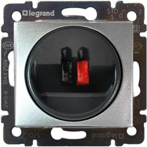 Legrand Valena Розетка для динамиков 2-х контактная Алюминий
