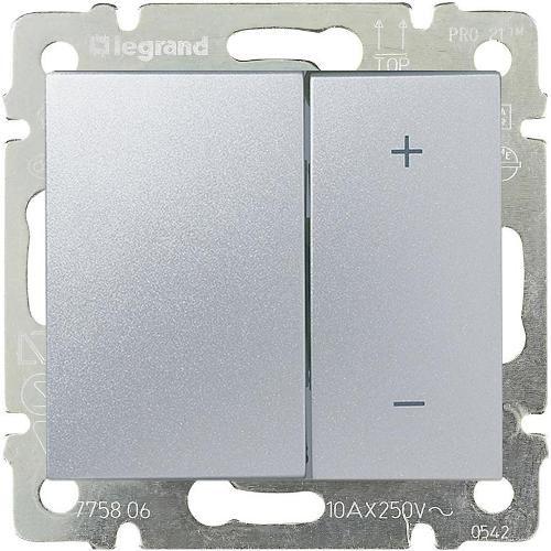 Legrand Valena Светорегулятор 4-х кнопочный Алюминий
