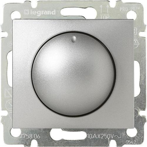 Legrand Valena Светорегулятор поворотный 400Вт Алюминий