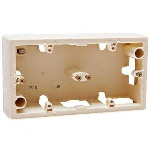 Legrand Valena Коробка на 2 поста для накладного монтажа Слоновая кость