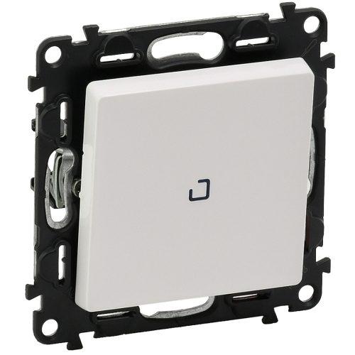 Legrand Valena Life Кнопочный выключатель 1 клавишный с подсветкой 10АХ 250В безвинтовые зажимы Белый