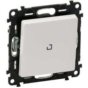 Legrand Valena Life Выключатель 1 клавишный с подсветкой 10АХ 250В безвинтовые зажимы Белый