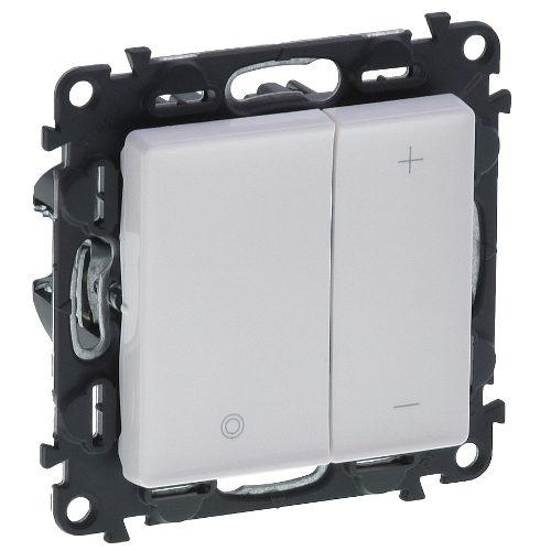 Legrand Valena Life Кнопочный светорегулятор без нейтрали 5-400 Вт Белый