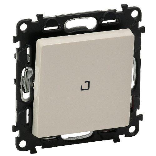 Legrand Valena Life Кнопочный выключатель 1 клавишный с подсветкой 10АХ 250В безвинтовые зажимы Слоновая кость