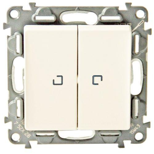 Legrand Valena Life Кнопочный выключатель 2 клавишный с подсветкой 10А 250В безвинтовые зажимы Слоновая кость