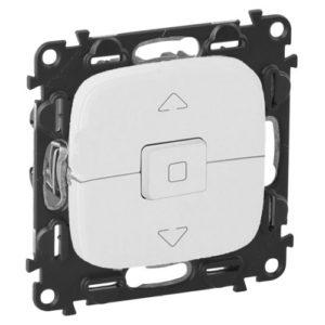 Legrand Valena Allure Выключатель кнопочный 250В для управления жалюзи/штор/тентов безвинтовые зажимы Белый