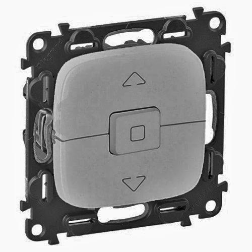 Legrand Valena Allure Выключатель кнопочный 250В для управления жалюзи/штор/тентов безвинтовые зажимы Алюминий