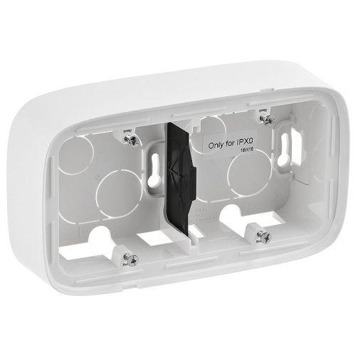Legrand Valena Allure Двухместная коробка для накладного монтажа Белая