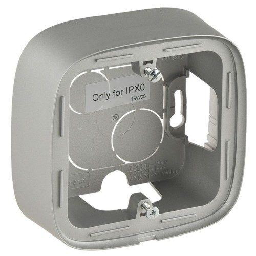 Legrand Valena Allure Одноместная коробка для накладного монтажа Алюминий