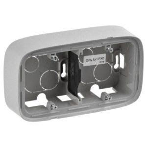 Legrand Valena Allure Двухместная коробка для накладного монтажа Алюминий