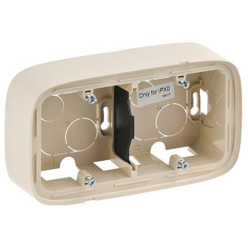 Legrand Valena Allure Двухместная коробка для накладного монтажа Слоновая кость