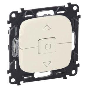 Legrand Valena Allure Выключатель кнопочный 250В для управления жалюзи/штор/тентов безвинтовые зажимы Жемчуг