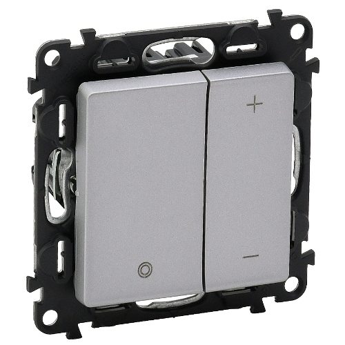 Legrand Valena Life Кнопочный светорегулятор без нейтрали 5-400 Вт Алюминий