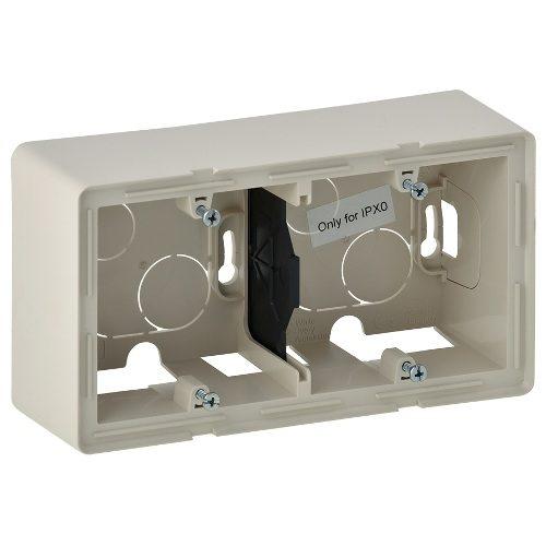 Legrand Valena Life Двухместная коробка для накладного монтажа Слоновая кость