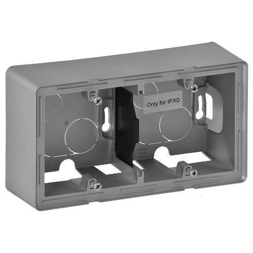 Legrand Valena Life Двухместная коробка для накладного монтажа Алюминий