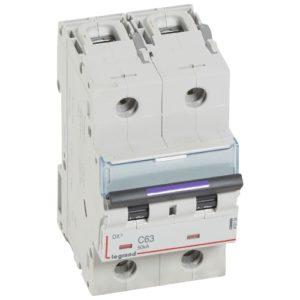 Автоматический выключатель Legrand DX3-E C6 2П 6000/6kA