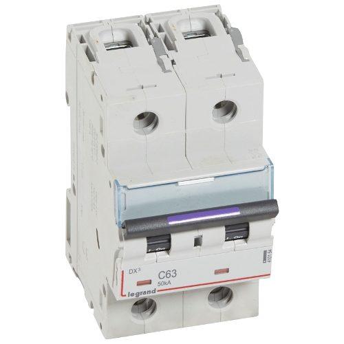 Автоматический выключатель Legrand DX3-E C63 2П 6000/6kA