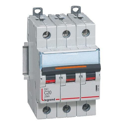 Автоматический выключатель Legrand DX3-E C20 3П 6000/6kA