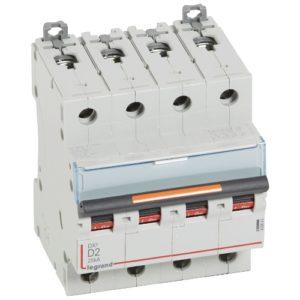 Автоматический выключатель Legrand DX3-E C40 4П 6000/6kA