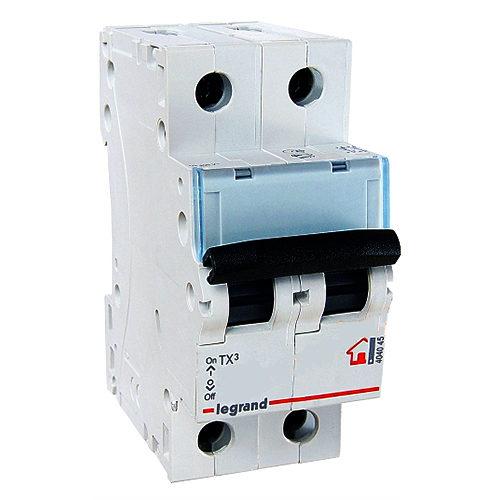 Автоматический выключатель Legrand TX3 C6A 2П 6000/6kA