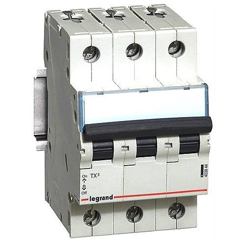 Автоматический выключатель Legrand TX3 C63A 3П 6000/6kA