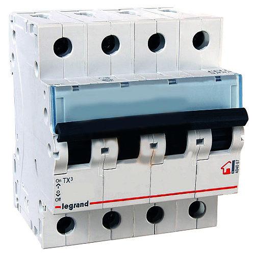 Автоматический выключатель Legrand TX3 C10A 4П 6000/6kA