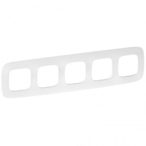 Legrand Valena Allure Рамка 5 местная универсальная Тиснение белое