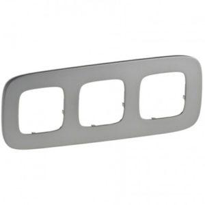 Legrand Valena Allure Рамка 3 местная универсальная Полированная сталь