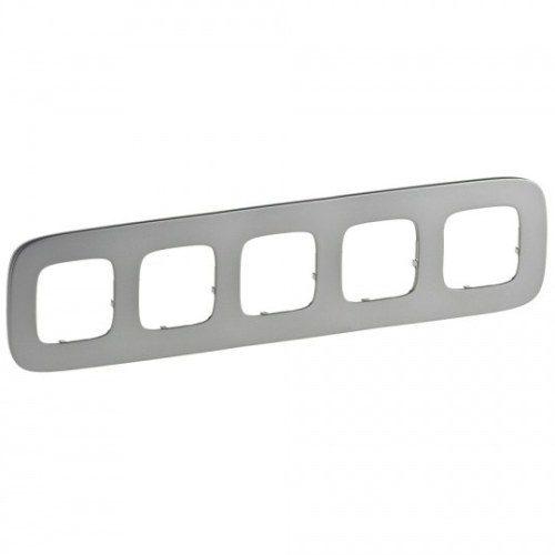Legrand Valena Allure Рамка 5 местная универсальная Полированная сталь