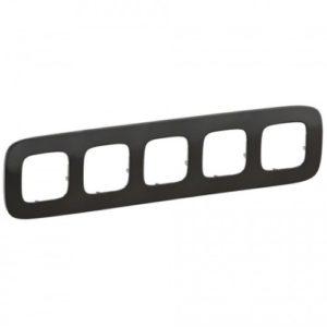 Legrand Valena Allure Рамка 5 местная универсальная Черная сталь