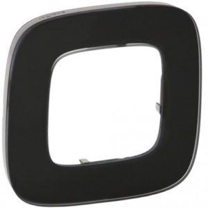 Legrand Valena Allure Рамка 1 местная универсальная Черное стекло