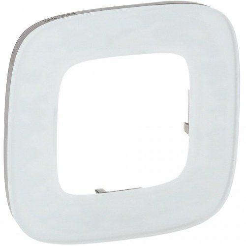 Legrand Valena Allure Рамка 1 местная универсальная Белое стекло
