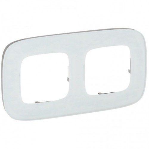 Legrand Valena Allure Рамка 2 местная универсальная Белое стекло